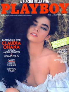 Playboy Italy March 1985 with Cláudia Ohana on the cover of the magazine