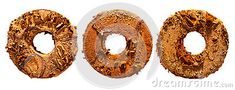 Rusty steel parts isolated on white background.