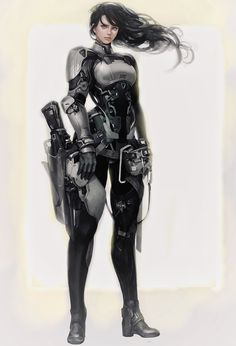 Beautiful Science Fiction, Fantasy and Horror art from all over the world. Female Character Design, Character Design Inspiration, Character Art, Cyberpunk Character, Cyberpunk Art, Cyberpunk Fashion, Ashe League Of Legends, Female Armor, Sci Fi Armor