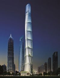ShanghaiAt 2,073 feet, Gensler's Shanghai Tower will be the tallest building in China and the second tallest in the world after Dubai's Burj Khalifa. Rising alongside Skidmore, Owings & Merrill's Jin Mao Tower and Kohn Pedersen Fox Associates' Shanghai World Financial Center in the city's Pudong district, the new structure completes a triumvirate of megatall buildings in the world's first super high-rise neighborhood. Contained within its asymmetrical, spiraling form are 121 floors of ...