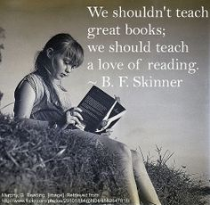 I think it should say We shouldn't JUST teach great books but also a love of reading.still so true! I Love Books, Great Books, Books To Read, My Books, People Reading, I Love Reading, Girl Reading, Children Reading, Vampire Academy