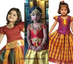Wedding fashion for kids – A Guide Golden Lehnga, Western Dresses, Half Saree, Wedding Styles, Sarees, Kids Fashion, That Look, Disney Princess, Cute