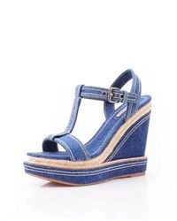 Miu Miu #Canvas #Wedges, Made In Italy, @$453.0
