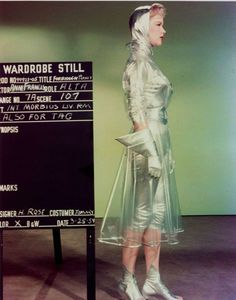 Wardrobe still of Anne Francis as Alta in Forbidden Planet, 1956.