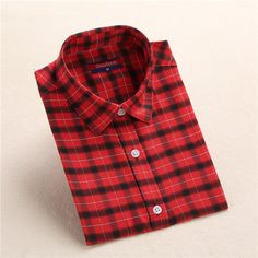 Aliexpress.com : Buy Dioufond Autumn Plaid Shirt Women Blouses Long Sleeve Blouse Women Shirts Plaid Blusas Femininas Flannel Womens Tops Fashion from Reliable flannel women suppliers on Dioufond Official Store