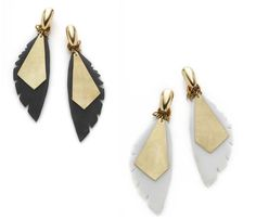 Lucite Feather Earrings  - Feeling like an angel of a little devil you pick hehe!