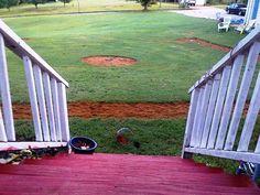 Our backyard baseball field