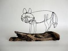 Image result for wire sculpture fox