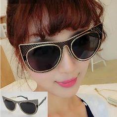52dcdb6ed 2015 Popular New Glass Vintage Metal Frame Sunglasses Women Brand New  Designer Cat Eye Glasses Fashion Women Decoration Men Classic Eyewear  Glasses Online ...
