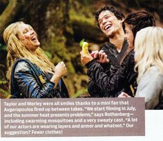 Eliza Jane Taylor, Bob Morley and Marie Avgeropoulos || The 100 cast || Clarke Griffin, Bellamy Blake and Octavia Blake