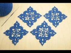 Lacy square motif crochet master class How to Crochet for Beginners // Svetlana Polishchuk The Effective Pictures We Offer You About crochet patterns A quality. Crochet Squares, Crochet Motif, Irish Crochet, Crochet Doilies, Easy Crochet, Crochet Flowers, Crochet Lace, Granny Squares, Thread Crochet