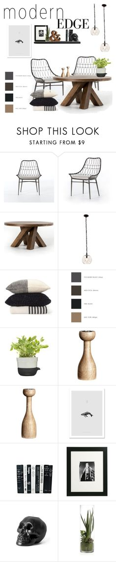 """modern edge dinning room"" by zinhome ❤ liked on Polyvore featuring interior, interiors, interior design, home, home decor, interior decorating, Wolford, H&M and modern"