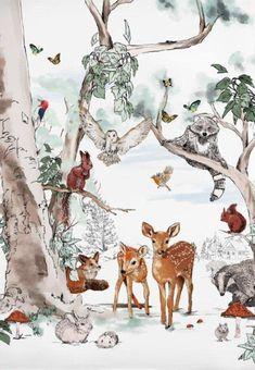 Tier Wallpaper, Normal Wallpaper, Ocean Wallpaper, Vinyl Wallpaper, Pattern Wallpaper, Wallpaper Size, Handmade Wallpaper, Forest Design, Personalized Posters