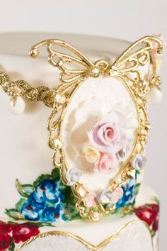 Madame Butterfly sugar broach By Nadia and Co