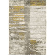 Found It At Allmodern Jax Light Gray And Gold Area Rug
