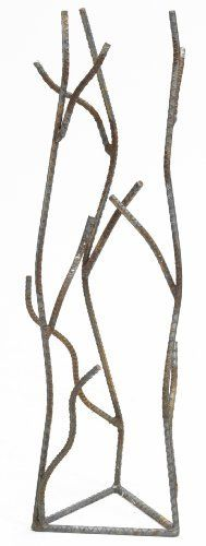 Plumstone 600 Recycled Rebar Branch Trellis, 30-Inch by Plumstone. $39.99. 30-inch high with a 10-inch diameter base. Left untreated, the trellis is made to rust naturally over time. Made from recycled rebar. Perfect for holding  flowering vines, vegetables or as an accent piece in your container garden. Perfect for holding flowering vines, vegetables or as an accent piece in your container garden, each trellis is individually made from recycled rebar and crafted in grand rap...