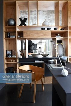 Contemporary study Contemporary Home Offices, Contemporary Style, Bookcase Shelves, Study Space, Interior Photography, Office Accessories, Working Area, Corner Desk, Sweet Home