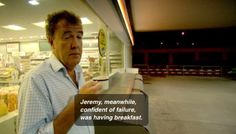 Jeremy Clarkson managing our expectations.