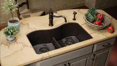 Choose Top 20+ Modern Kitchen Sink Design Ideas! #sink #kitchensink #kitchendesign #kitchenremodel White Undermount Kitchen Sink, Kohler Sink, Granite Kitchen Sinks, Double Kitchen Sink, Kitchen Sink Design, Kitchen Fixtures, Cheap Dining Tables, Ceramic Subway Tile, Laminate Countertops