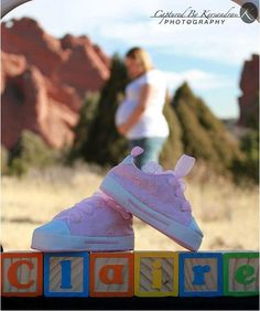 Love the blocks and the shoes...although not the baby's name as I'd want to keep it secret until the birth!