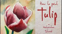 How to paint a Tulip flower - Watercolour Tutorial