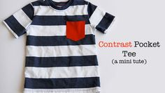 Contrast Pocket Tee {boys summer collection}