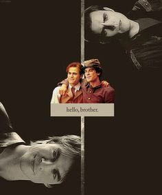 The Salvatore Brothers Damon And Stefan Salvatore, The Salvatore Brothers, Growing Old Together, Bonnie Bennett, Vampires And Werewolves, Bad Influence, New Friendship, Brotherly Love, Caroline Forbes