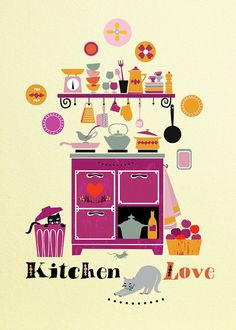 Love Kitchen-Illustration