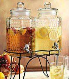 "Home Essentials ""Hammered"" Drink Dispenser Set 