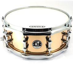 "Sonor Delite 14x6"" Brass Snare Drum www.drumwarehouselondon.com"