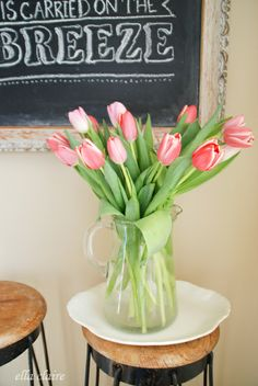 {Ella Claire}: Spring Chalkboard with Free Template and Printable