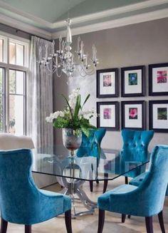 sala de jantar elegante e colorida  SaladeJantar Luxury Dining Room 1853ad10337