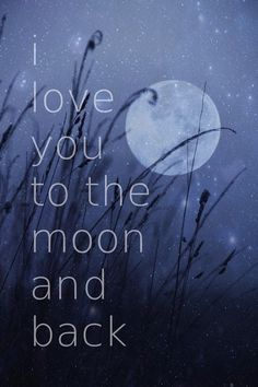 I love you to the moon and back Stretched Canvas