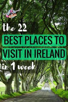 Hello curious Ireland adventurer! Looking for the best places to visit in Ireland? Come check these 22 beauties out in one week! #irelandtravel