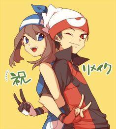 pokemon doujinshi red x green Pokemon Rosa, Pokemon Manga, Pokemon Fan Art, My Pokemon, Pikachu, Pokemon Couples, Pokemon People, Pokemon Ships, Anime Couples
