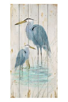 Blue Heron Duo Giclee Print by Arnie Fisk at Art.com