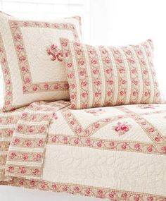 Pine Cone Hill - Jewel Pink Quilted Sham