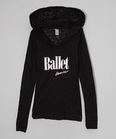 Another great find on #zulily! Black 'Ballet' Burnout Hoodie - Girls by Dancewearables #zulilyfinds