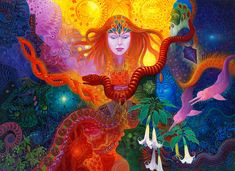 trance-shamanico  like today.  the colors.  also interesting picture.  i like the flowers and the snake.