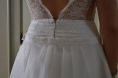 Robe de mariée décolleté dos jupe plissé, Isabelle