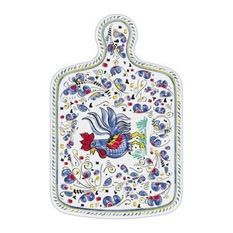 Le Cadeaux Rooster Blue Cheese Board with Red Laguiole Cheese Knife