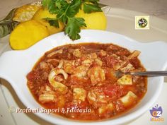 Fish And Seafood, Ricotta, Italian Recipes, Thai Red Curry, Spaghetti, Food And Drink, Menu, Tasty, Favorite Recipes