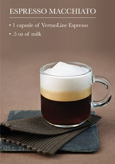 Stick to a classic for your next Nespresso moment by creating this Espresso Macchiato recipe. Simply top the freshly brewed Grand Cru with hot frothed milk. Who doesn't love an indulgent treat that is easy to make?