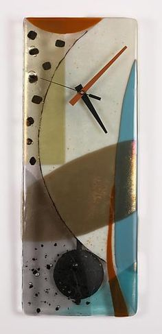 Ascension by Nina Cambron: Art Glass Pendulum Clock available at www.artfulhome.com