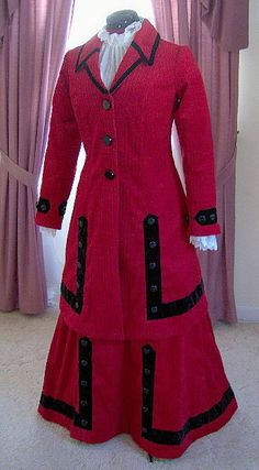 FOR ORDERS ONLY - 1900s Coat Dress 1910 Walking Traveling Suit 1912 Titanic Skirt Edwardian