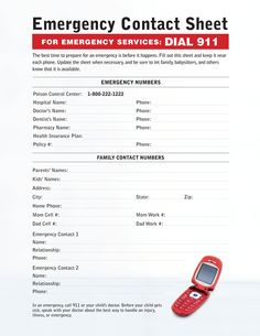 Fill out this emergency contact sheet and keep it in a spot convenient for babysitters and all family members. Girl Scout Leader, Girl Scout Troop, Boy Scouts, Cub Scouts Bear, Girl Scout Juniors, Scout Activities, Daisy Girl Scouts, Brownie Girl Scouts, Girl Scout Crafts