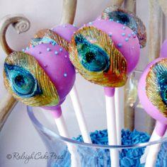 Peacock Cake Pops