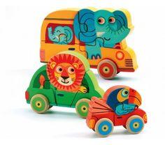 Djeco Puzzle en bois 4, 5 et 6 pièces - Pachy & Co