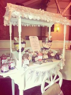 wedding sweet cart and sweet buffet