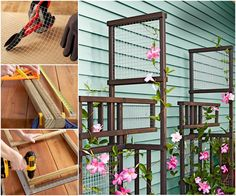 Freestanding trellis - This would make a fabulous addition to my garden. Outdoor Plants, Outdoor Fun, Outdoor Gardens, Outdoor Ideas, Outdoor Stuff, Outdoor Spaces, Diy Trellis, Trellis Ideas, Gardening
